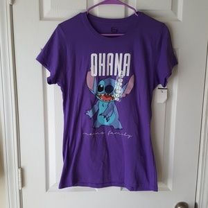 Lilo and stitch ohana means family graphic tee